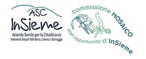 Logo Insieme Commissione parità mosaico